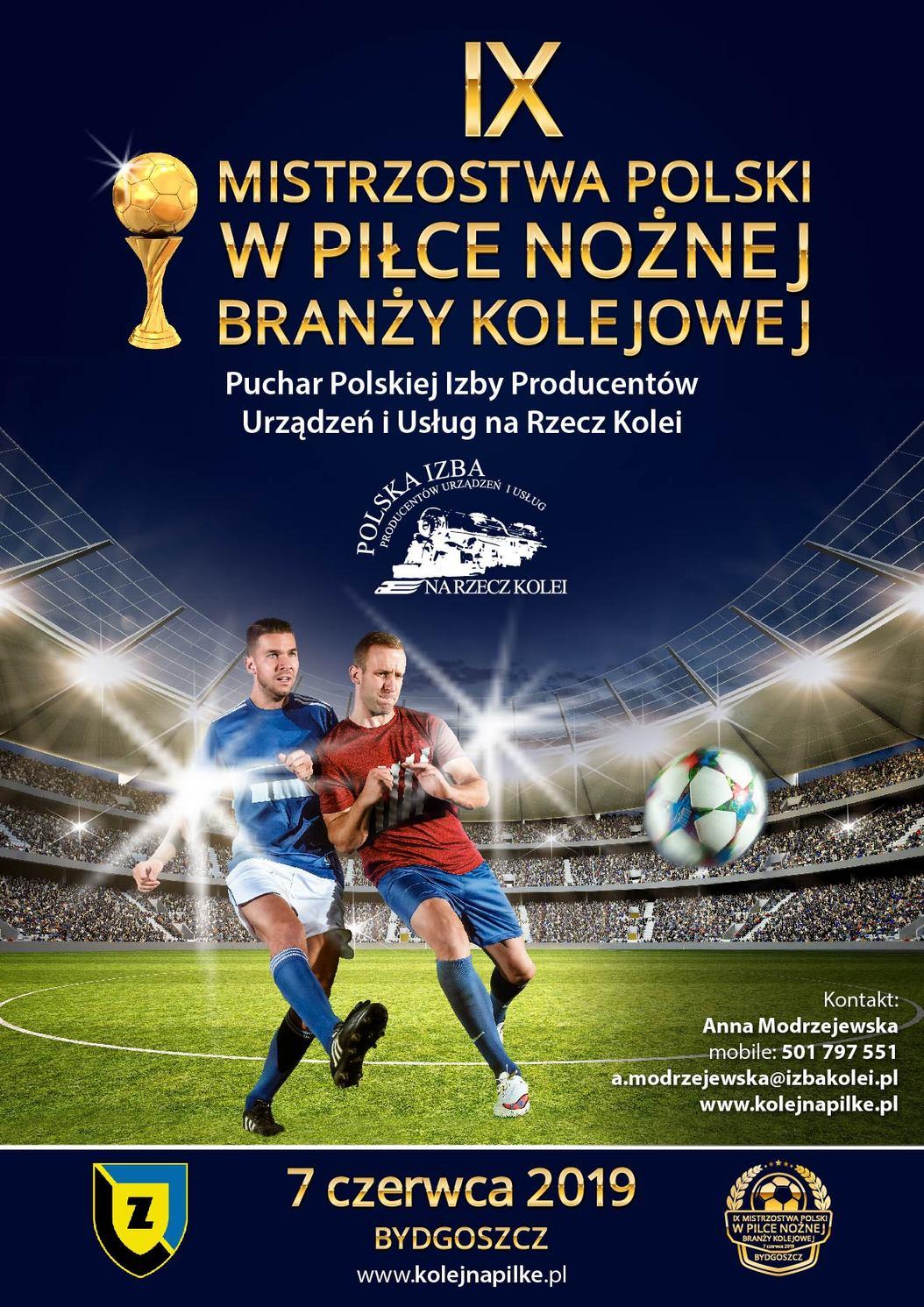 Plakat Piłka 2019 Turniej Piłki Nożnej